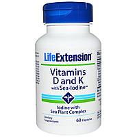Life Extension, Vitamin D With Sea Iodine and Vita K2, 60 Capsules, купить, цена, отзывы