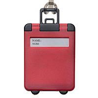 Бирка багажная пластиковая,красная, от 10 шт