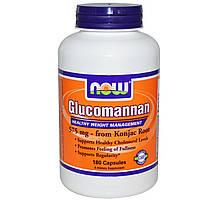 Now Foods, Глюкоманнан, 575 мг, 180 капсул, купить, цена, отзывы