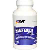GAT, Essentials Men's Multi + Test, 60 Tablets, купить, цена, отзывы