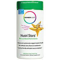 Rainbow Light, Nutri Stars, жевательные мультивитамины, со вкусом фруктового пунша, 60 жевательных таблеток, купить, цена, отзывы