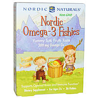 Nordic Naturals, Конфеты в виде рыбок от Nordic с омега-3, со вкусом засахаренных фруктов, 300 мг, 36 конфет, купить, цена, отзывы