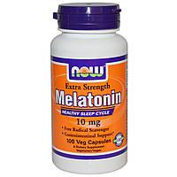 Now Foods, Melatonin, 10 мг, 100 растительных капсул, купить, цена, отзывы
