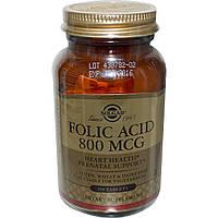 Solgar, Фолиевая кислота, 800 мкг, 250 таблеток, купить, цена, отзывы