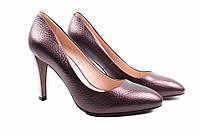 Туфли женские Polann натуральная кожа, цвет бордо (каблук, удобная колодка)