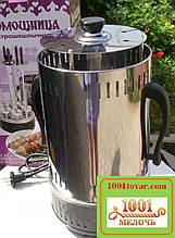 Электрошашлычница Помощница на 6 шампуров, с таймером (шампура, шашлычница)