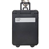Бирка багажная пластиковая,черная, от 10 шт