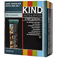 KIND Bars, Батончики с темным шоколадом, орехами и морской солью, 12 батончиков, 1.4 унции (40 г) каждый, купить, цена, отзывы