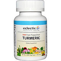 Eclectic Institute, Куркума, 395 мг, 90 вегетарианских капсул без ГМО, купить, цена, отзывы