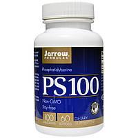 Jarrow Formulas, PS 100, Фосфатидилсерин, 100 мг, 60 гелевых капсул, купить, цена, отзывы