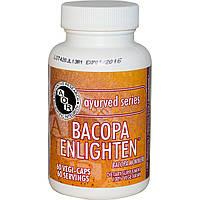 Advanced Orthomolecular Research AOR, Аюрведическая серия,Bacopa Enlighten, 60 растительных капсул, купить, цена, отзывы