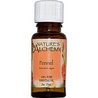 Nature's Alchemy, Эфирное масло фенхеля, 0.5 унции (15 мл), купить, цена, отзывы