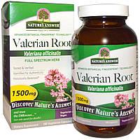 Nature's Answer, «Полный спектр», корень валерианы, 1500 мг, 180 растительных капсул, купить, цена, отзывы