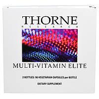 Thorne Research, Элитный мультивитаминный комплекс, 2 флакона по 90 капсул в растительной оболочке, купить, цена, отзывы