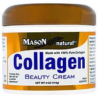 Mason Naturals, Крем для лица и тела с коллагеном, с запахом груши, 4 унции (114 г), купить, цена, отзывы