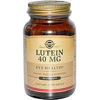 Solgar, Лютеин 30 гелевых капсул, купить, цена, отзывы