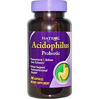Natrol, Пробиотик ацидофилус, 100 капсул, купить, цена, отзывы