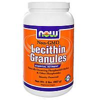 Now Foods, Гранулы лецитина, 2 фунта (907 г), купить, цена, отзывы