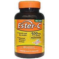 American Health, Ester-C с цитрусовым биофлавоноидом, 500 мг, 120 капсул, купить, цена, отзывы