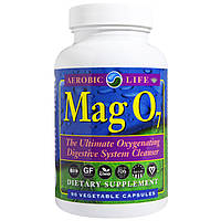 Aerobic Life, Mag 07, лучшее средство для очистки пищеварительной системы, насыщающее кислородом, 90 вегетарианских капсул, купить, цена, отзывы