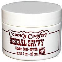 Country Comfort, Herbal Savvy, желтокорень и мирра, крем 1 унции (28 г), купить, цена, отзывы