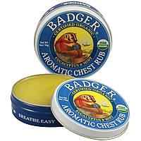 Badger Company, Ароматная Mазь для Грудной Клетки, Эвкалипт и Мята 2 унции (56 г), купить, цена, отзывы