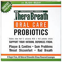 TheraBreath, Уход за полостью рта, Oral Care Probiotics, цитрусовый аромат, 8 пастилок без сахара, купить, цена, отзывы