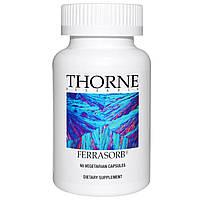 Thorne Research, Ferrasorb, 60 вегетарианских капсул, купить, цена, отзывы