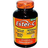 American Health, Ester-C с цитрусовыми биофлавоноидами, 1000 мг, 90 капсул, купить, цена, отзывы