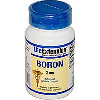 Life Extension, Бор, 3 мг, 100 вегетарианских капсул, купить, цена, отзывы