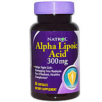 Natrol, Альфа-липоевая кислота, 300 мг, 50 капсул