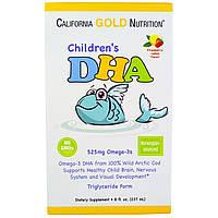 California Gold Nutrition, ДГК для детей со вкусом лимона и клубники, 8 ж. унций (237 мл), купить, цена, отзывы