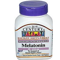 21st Century, Мелатонин, 5 мг, 120 таблеток, купить, цена, отзывы