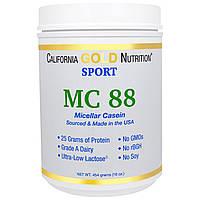 California Gold Nutrition, SPORT, MC 88, Pure Micellar Casein Protein, Ultra-Low Lactose, 16 унций (454 г), купить, цена, отзывы