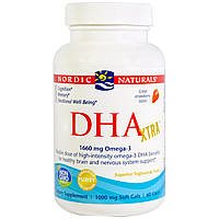 Nordic Naturals, DHA Xtra, Strawberry, 1000 mg, 60 Softgels, купить, цена, отзывы