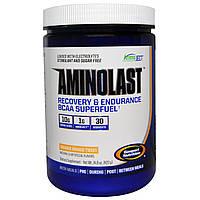 Gaspari Nutrition, Супертопливо для восстановления и повышения выносливости с BCAA (аминокислоты с разветвленной цепью) Aminolast, Манго-апельсин,,