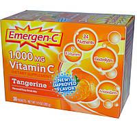 Emergen-C, Витамин C, Ароматизированная шипучка, мандарин, 1000 мг, 30 пакетиков по 9,4 г каждый, купить, цена, отзывы