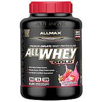 ALLMAX Nutrition, Смесь изолята сыворочного белка с клубничным вкусом AllWhey Gold, 2,27 кг (5 фунтов)