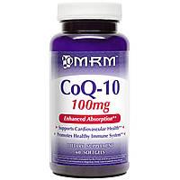 MRM, CoQ-10, 100 мг, 60 гелевых капсул, купить, цена, отзывы