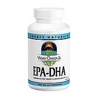 Source Naturals, Веганская Омега 3S, ЭПК-ДГК, 300 мг, 60 веганских мягких таблеток, купить, цена, отзывы