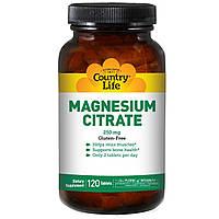 Country Life, Магния цитрат, 250 мг, 120 таблеток, купить, цена, отзывы