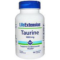 Life Extension, Таурин, 1000 мг, 90 вегетарианских капсул, купить, цена, отзывы