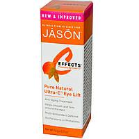 Jason Natural, C-Effects, Чистый, натуральный крем для век с эффектом лифтинга с витамином С, 0,5 унции (14 г), купить, цена, отзывы