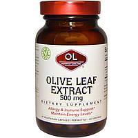 Olympian Labs Inc., Экстракт листьев оливы, 500 мг, 60 вегетарианских капсул, купить, цена, отзывы