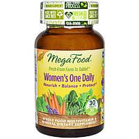 MegaFood, Цельнопищевые мультивитамины и минералы для женщин, 30 таблеток, купить, цена, отзывы