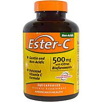 American Health, Ester-C, 500 мг с цитрусовыми биофлавоноидами, 240 капсул, купить, цена, отзывы