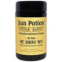 Sun Potion, Порошок He Shou Wu, Обработка в сыром виде, 2,8 унции (80 г), купить, цена, отзывы