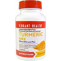 Vibrant Health, Куркума 46X, версия 3.0, 60 капсул, купить, цена, отзывы