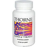 Thorne Research, Йод и тирозин, 60 капсул в растительной оболочке, купить, цена, отзывы