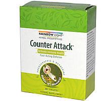Rainbow Light, Herbal Prescriptives, Counter Attack, Активация иммунного здоровья, 30 таблеток, купить, цена, отзывы